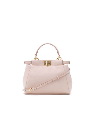 Peekaboo Mini Satchel Bag, Light Pink