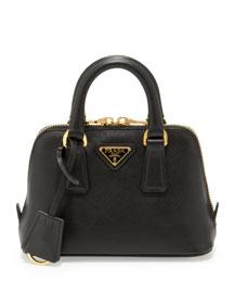 Saffiano Mini Promenade Bag, Black (Nero)