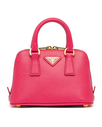 Saffiano Mini Promenade Crossbody Bag, Pink (Peonia)