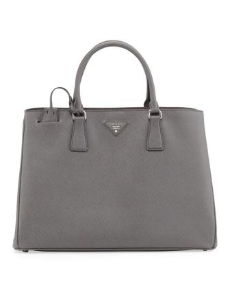 Saffiano Gardener's Tote Bag, Gray (Marmo)