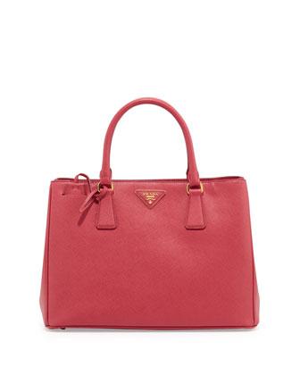 Saffiano Gardener's Tote Bag, Pink (Peonia)
