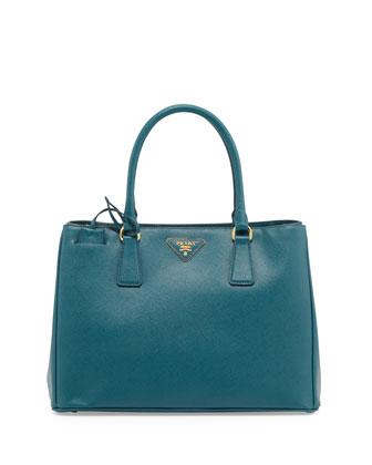 Saffiano Gardener's Tote Bag, Teal (Ottanio)