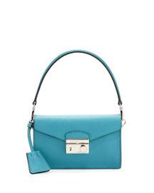 Saffiano Crossbody Mini Bag, Turquoise (Turchese)