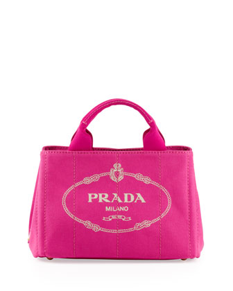 Canapa Mini Canvas Logo Tote Bag, Pink (Fuxia)