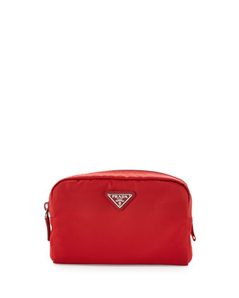 Vela Square Cosmetic Bag, Red (Rosso)