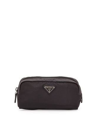 Vela East-West Cosmetic Case, Black