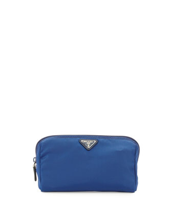 Vela Trapezoid Cosmetic Case, Blue (Bluette)