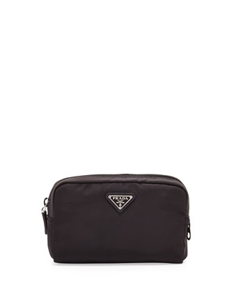 Vela Square Cosmetic Case, Black