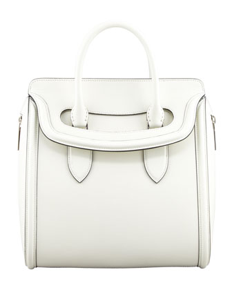 Heroine Medium Flap-Top Tote Bag, Ivory