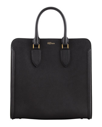Heroine Leather Tote Bag, Black