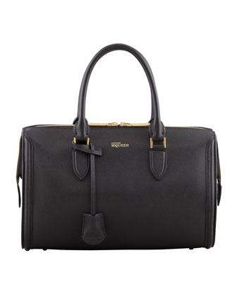 Heroine Medium Duffle Satchel Bag, Black