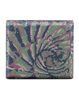 Agave Cigar Box Clutch Bag, Silver Multi
