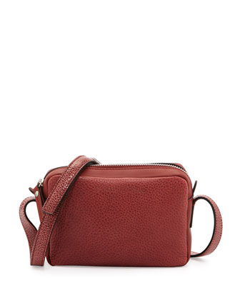Mini Leather Crossbody Bag, Red