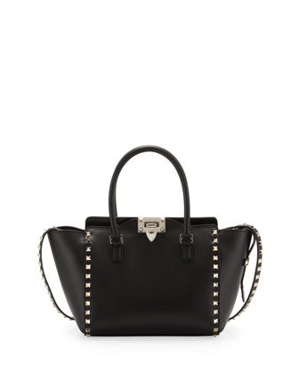 Rockstud Shopper Tote Bag, Black