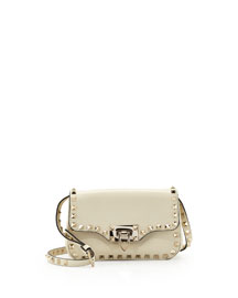 Rockstud Mini Crossbody Bag, Ivory