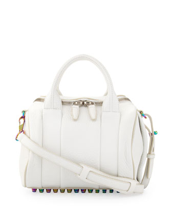 Rockie Small Crossbody Satchel, White