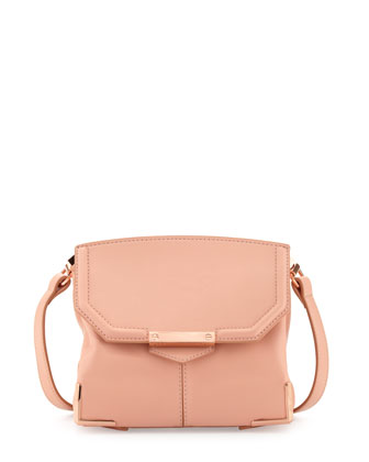 Marion Prisma Skeletal Shoulder Bag, Rose
