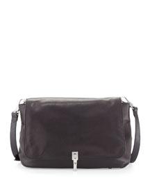 Cynie Lambskin Crossbody Bag, Black