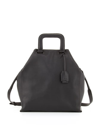 Wednesday Trapezoid Tote Bag, Black