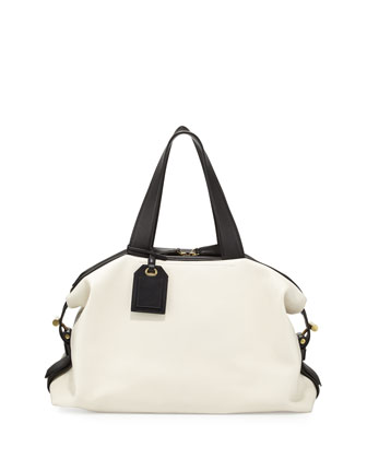 RDK Bicolor Satchel Bag, White/Black