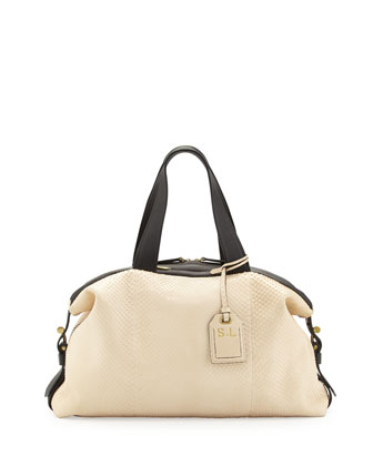 RDK Anaconda Satchel Bag, White/Black