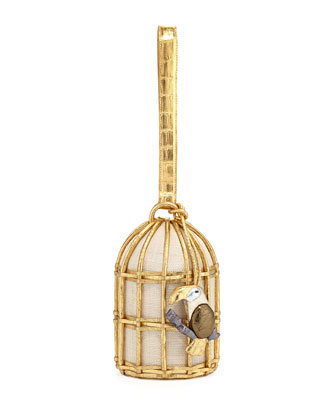 Crocodile & Canvas Toucan Birdcage Minaudiere