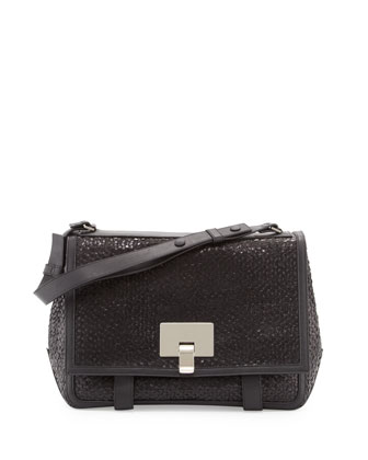 PS Courier Woven Shoulder Bag, Black