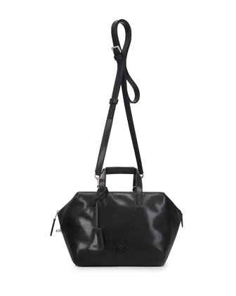Origami Cubo Satchel Bag, Black