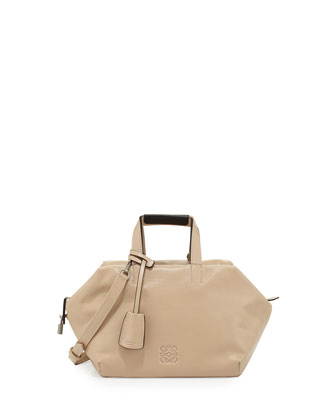 Origami Cubo Small Satchel Bag, Neutral