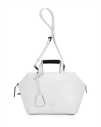 Origami Cubo Satchel Bag, White