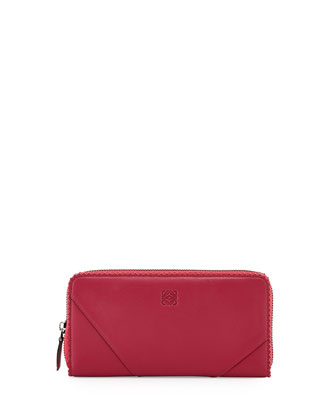 Origami Zip-Around Wallet, Raspberry