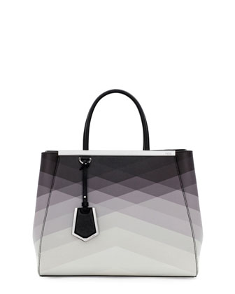 2Jours Medium Tote Bag, Black Pattern