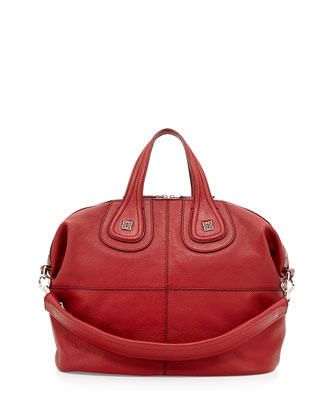 Nightingale Medium Sugar Satchel Bag, Red