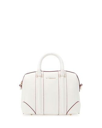 Lucrezia Sandy Satchel Bag, White/Red