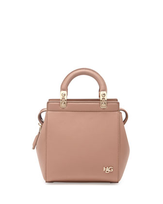 HDG Mini Top-Handle Crossbody Bag, Light Pink
