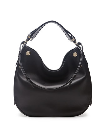 Obsedia Large Nail-Head Hobo Bag, Black