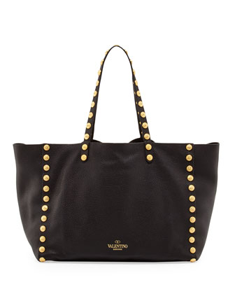 Gryphon-Stud Tote Bag, Black