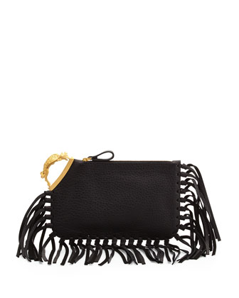 Gryphon Finger-Clutch Bag, Black