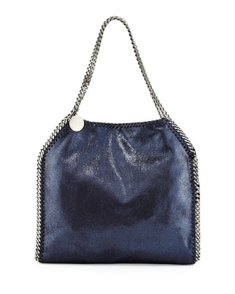 Baby Bella Metallic Shoulder Bag, Metallic Blue
