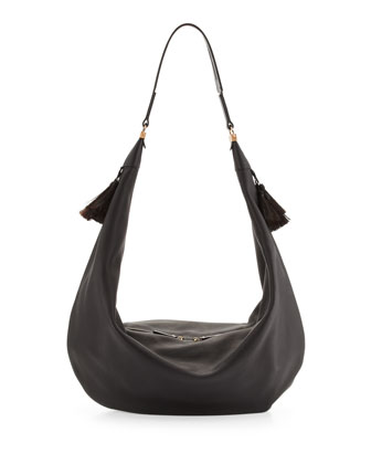 Napa Sling Hobo Bag, Black