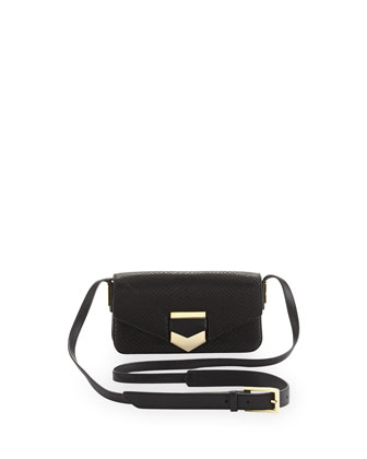 Ion Snake-Print Flap Shoulder Bag