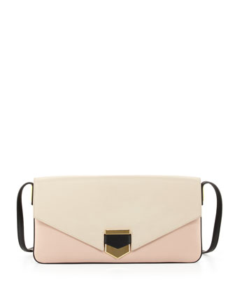 Vega Colorblock Shoulder Bag, Ivory