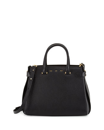 Boulevard Vitello Medium Tote Bag, Black