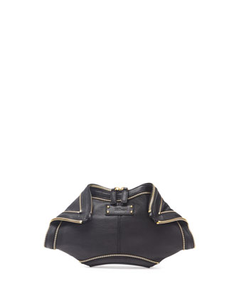 De-Manta City Zip Clutch Bag, Black
