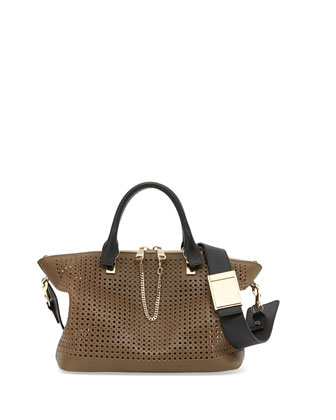 Baylee Perforated Bag, Gray