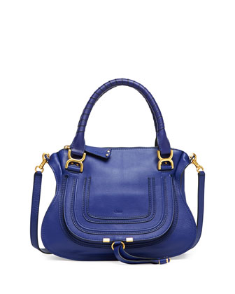 Marcie Medium Satchel Bag, Blue