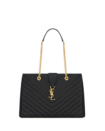 Monogramme Chain-Strap Shopper Bag, Black