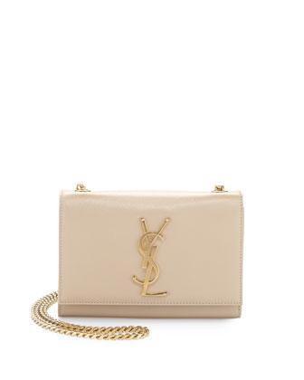 Monogramme Leather Crossbody Bag, Cream