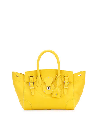 Soft Ricky 27 Small Soft Calfskin Satchel Bag, Yellow