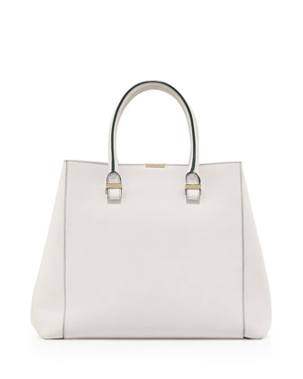 Liberty Structured Large Tote Bag, White